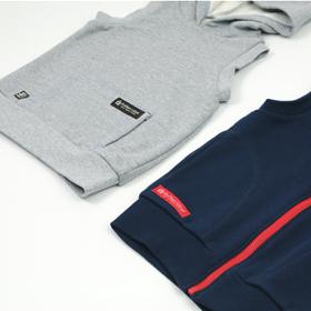 簡単パッチポケットと脇縫い目利用ポケット・サンプル画像