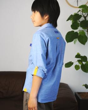 キッズシャツ,型紙