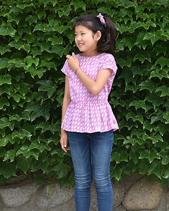 子供服,女の子,ペプラムブラウス,型紙,作り方,洋裁,手芸