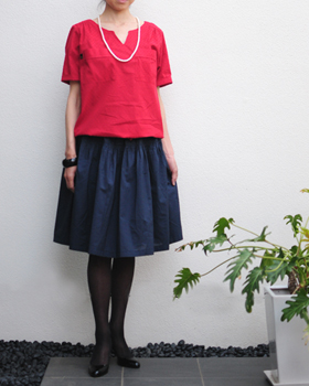 型紙,ギャザースカート,レディース