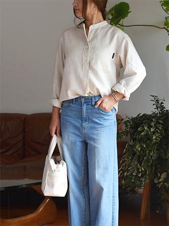 大人服,メンズ,レディース,プルオーバー,バンドカラー,シャツ,型紙,作り方