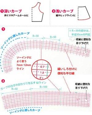 画像2: クロバーカーブ定規