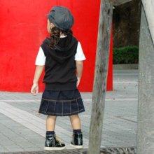 他の写真 (画像をクリックすると大きく見えます)3: バックプリーツスカート