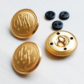 ワッペン,金属釦,金ボタン,エンブレム