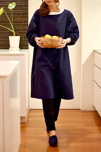 大人服,レディース,割烹着,型紙,作り方