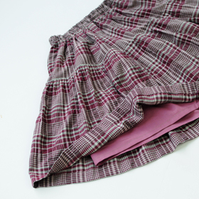 型紙,ギャザースカート,女の子