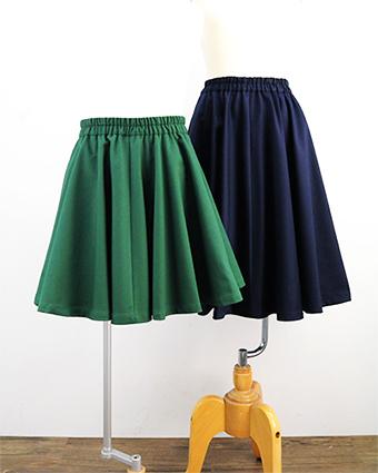 型紙,フレアスカート,女の子