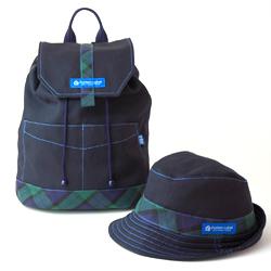 帽子とコーディネイトできる手作りリュック・型紙サンプル
