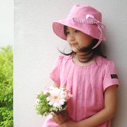 帽子の型紙 モデル着用